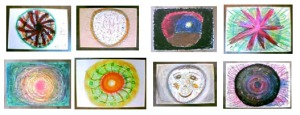 自由發揮的表現型曼陀羅,八人呈現各自不同。